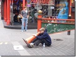 Busker in London