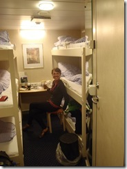 Our BEDROOM on the Ship!