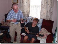Singing you off with a tune.....(Ray and his Dad)