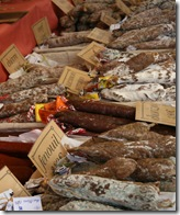 Dried sausages varieties in Charlon Market