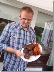 Phill showing off his sausages!