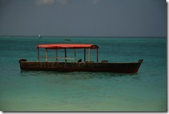 Our floating boat of Zanzibar... It truly existed