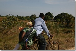 I guess it could be worse, we could travel by BIKE like this family to Tanga!
