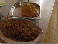 Vegetable and meat filling