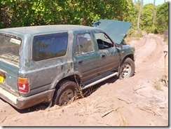 BOGGED in 'Tent with a View's' Drive Way