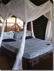 Beautiful Bed at Tent with a View
