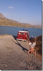 Wild Camping in Zahara, Spain... enough to do a handstand over!